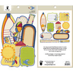 Fancy Pants Designs - Beach Bum Collection - Journal Embellishments - Die Cut Cardstock Pieces