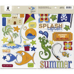 Fancy Pants Designs - Beach Bum Collection - Chipboard Stickers - Shapes, BRAND NEW