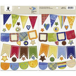 Fancy Pants Designs - Beach Bum Collection - Chipboard Stickers - Banners