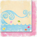 Fancy Pants Designs - Beach Babe Collection - 12 x 12 Double Sided Paper - Jumping Fish