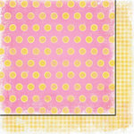 Fancy Pants Designs - Beach Babe Collection - 12 x 12 Double Sided Paper - Lemonade
