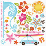 Fancy Pants Designs - Beach Babe Collection - Rub Ons