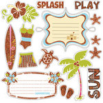 Fancy Pants Designs - Beach Babe Collection - Glitter Cuts Transparencies