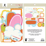 Fancy Pants Designs - Beach Babe Collection - Journal Embellishments - Die Cut Cardstock Pieces