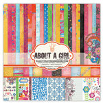 Fancy Pants Designs - About a Girl Collection - 12 x 12 Paper Kit