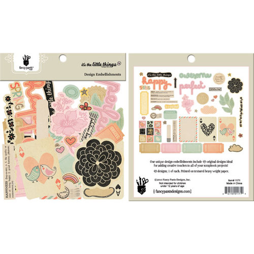 Fancy Pants Designs - It's the Little Things Collection - Design Embellishments - Die Cut Cardstock Pieces