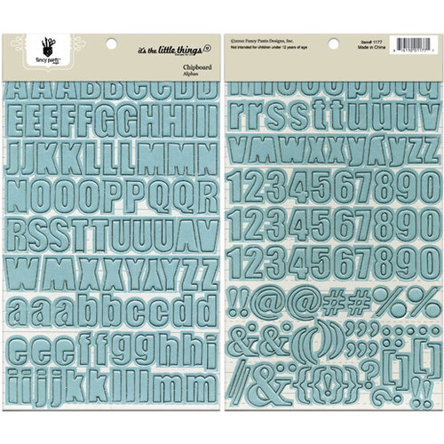 Fancy Pants Designs - It's the Little Things Collection - Chipboard Stickers - Alphabet