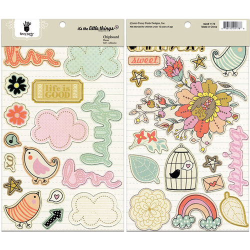 Fancy Pants Designs - It's the Little Things Collection - Chipboard Stickers - Shapes