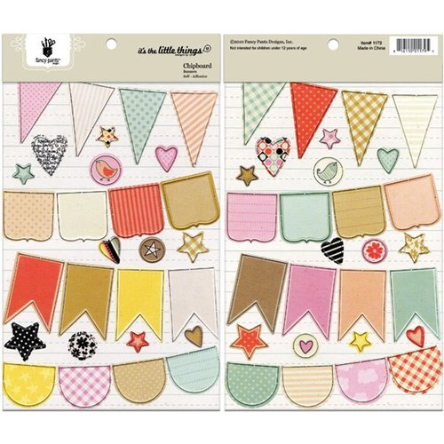 Fancy Pants Designs - It's the Little Things Collection - Chipboard Stickers - Banners