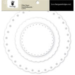 Fancy Pants Designs - Artist Edition Collection - Filter Flower Paper Embellishments - Scallop