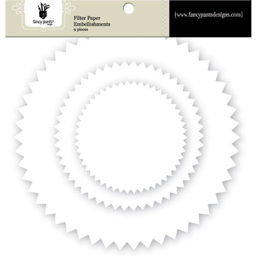 Fancy Pants Designs - Artist Edition Collection - Filter Flower Paper Embellishments - Pinking Edge