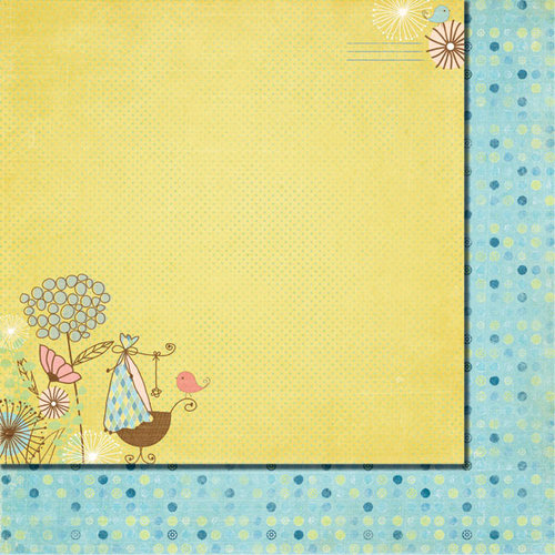 Fancy Pants Designs - Baby Mine Collection - 12 x 12 Double Sided Paper - Special Delivery
