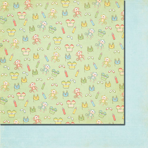 Fancy Pants Designs - Baby Mine Collection - 12 x 12 Double Sided Paper - Peek-a-Boo