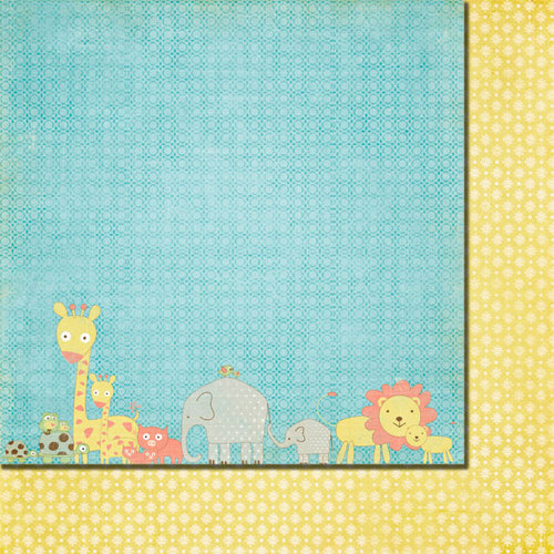 Fancy Pants Designs - Baby Mine Collection - 12 x 12 Double Sided Paper - All in a Row