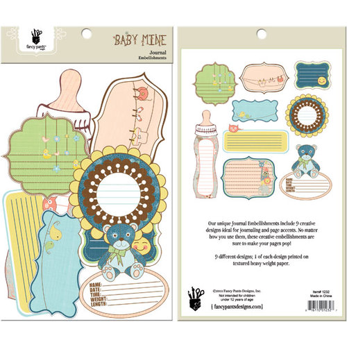 Fancy Pants Designs - Baby Mine Collection - Journal Embellishments - Die Cut Cardstock Pieces