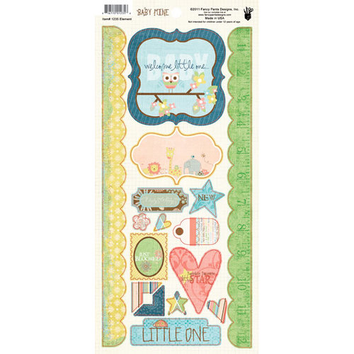 Fancy Pants Designs - Baby Mine Collection - Cardstock Stickers - Element