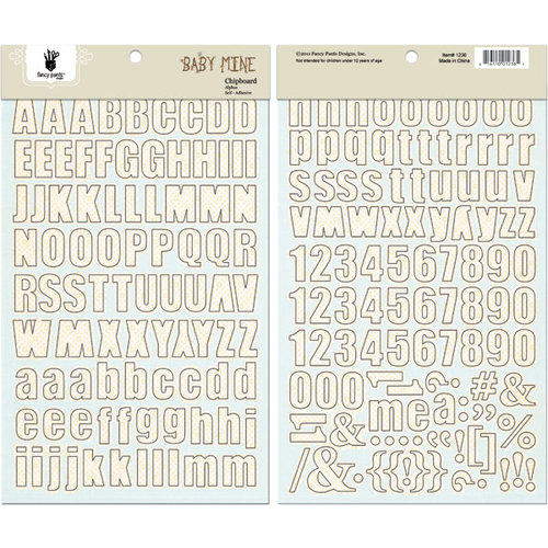 Fancy Pants Designs - Baby Mine Collection - Chipboard Stickers - Alphabet