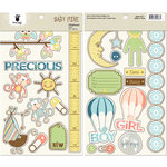 Fancy Pants Designs - Baby Mine Collection - Chipboard Stickers - Pieces