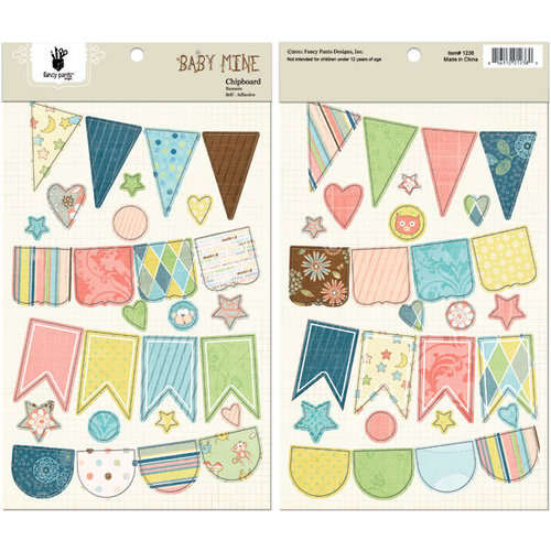 Fancy Pants Designs - Baby Mine Collection - Chipboard Stickers - Banners