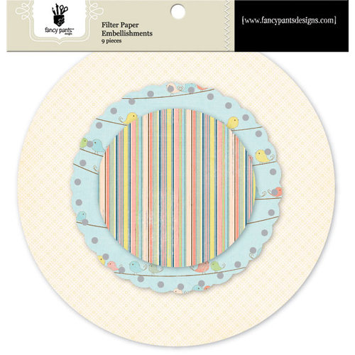 Fancy Pants Designs - Baby Mine Collection - Filter Paper Embellishments - Scallop