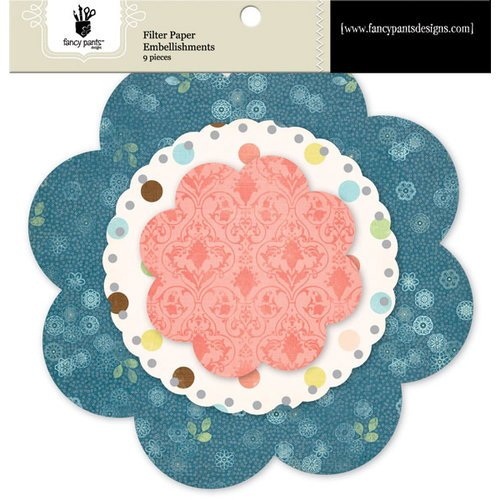 Fancy Pants Designs - Baby Mine Collection - Filter Flower Paper Embellishments - Floral