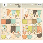 Fancy Pants Designs - Summer's End Collection - Chipboard Stickers - Banners