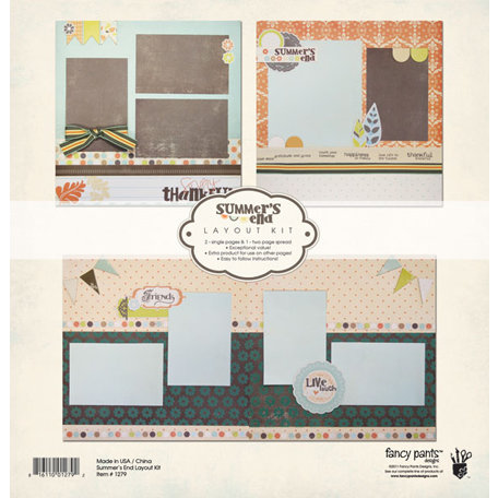 Fancy Pants Designs - Summer's End Collection - 12 x 12 Layout Kit