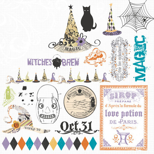Fancy Pants Designs - Oct 31st Collection - Halloween - Rub Ons
