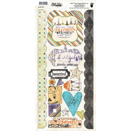 Fancy Pants Designs - Oct 31st Collection - Halloween - Cardstock Stickers - Element