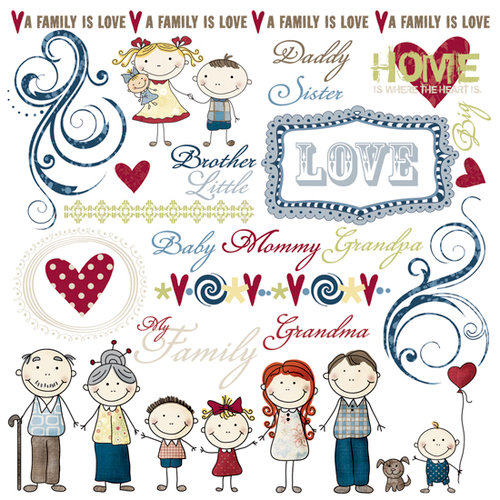Fancy Pants Designs - My Family Collection - Rub Ons