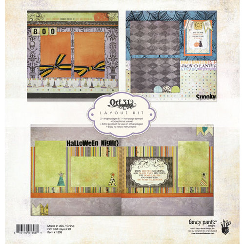 Fancy Pants Designs - Oct 31st Collection - Halloween - 12 x 12 Layout Kit