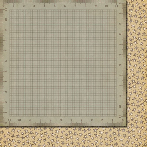 Fancy Pants Designs - Off to School Collection - 12 x 12 Double Sided Paper - Measure Up