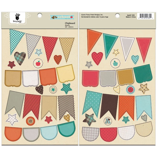 Fancy Pants Designs - Off to School Collection - Chipboard Stickers - Banners