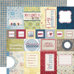 Fancy Pants Designs - My Family Collection - 12 x 12 Double Sided Paper - Cards