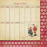 Fancy Pants Designs - Saint Nick Collection - Christmas - 12 x 12 Double Sided Paper - Naughty or Nice