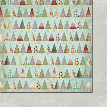 Fancy Pants Designs - Saint Nick Collection - Christmas - 12 x 12 Double Sided Paper - Yule Tree