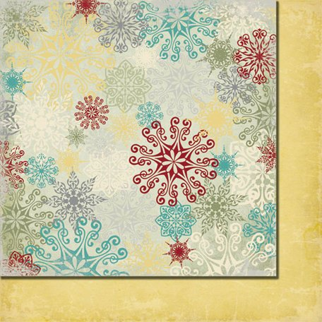 Fancy Pants Designs - Saint Nick Collection - Christmas - 12 x 12 Double Sided Paper - Gleaming