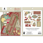 Fancy Pants Designs - Saint Nick Collection - Christmas - Design Embellishments - Die Cut Cardstock Pieces