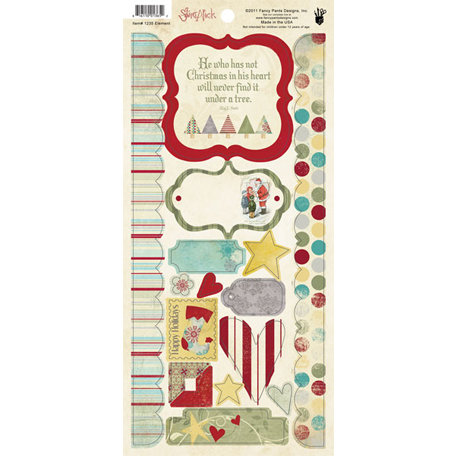 Fancy Pants Designs - Saint Nick Collection - Christmas - Cardstock Stickers - Element