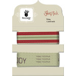 Fancy Pants Designs - Saint Nick Collection - Christmas - Ribbon Card