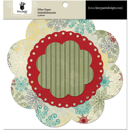 Fancy Pants Designs - Saint Nick Collection - Christmas - Filter Flower Paper Embellishments