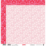 Fancy Pants Designs - Love Story Collection - 12 x 12 Double Sided Paper - XOXO