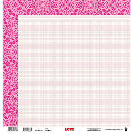 Fancy Pants Designs - Love Story Collection - 12 x 12 Double Sided Paper - Truly