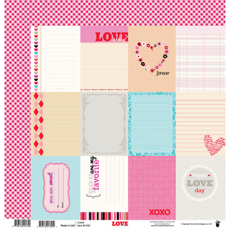 Fancy Pants Designs - Love Story Collection - 12 x 12 Double Sided Paper - Love Story Cards