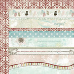 Fancy Pants Designs - Winterland Collection - 12 x 12 Double Sided Paper - Winterland Strips