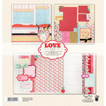 Fancy Pants Designs - Love Story Collection - 12 x 12 Layout Kit