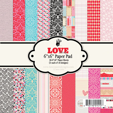 Fancy Pants Designs - Love Story Collection - 6 x 6 Paper Pad