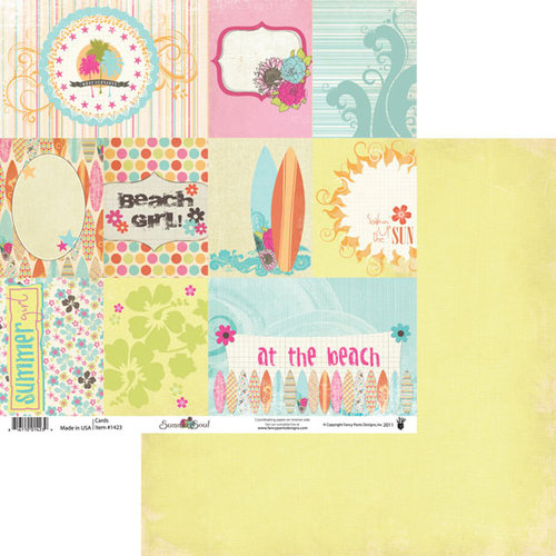 Fancy Pants Designs - Summer Soul Collection - 12 x 12 Double Sided Paper - Cards