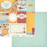 Fancy Pants Designs - Wave Searcher Collection - 12 x 12 Double Sided Paper - Cards