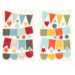 Fancy Pants Designs - Wave Searcher Collection - Chipboard Stickers - Banners